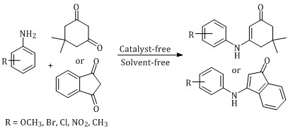 Catalyst and solvent-free synthesis of β-enaminone derivatives