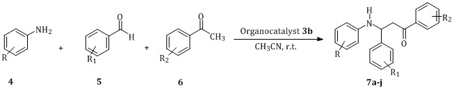 Organocatalytic enantioselective one-pot synthesis of β-aminoketones via Mannich reaction