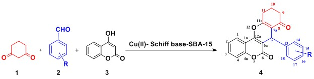 Cu(II)-Schiff Base/SBA-15 as an efficient catalyst for synthesis of benzopyrano[3,2-c]chromene-6,8-dione derivatives