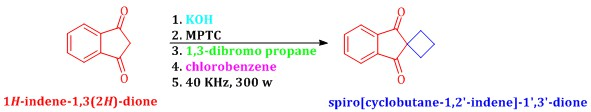 Synthesis of spiro [cyclobutane-1,2'-indene]-1',3'-dione under a new multi-site phase-transfer catalyst combined with ultrasonication-a kinetic study