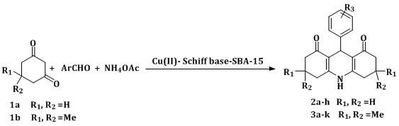 Cu(II)-Schiff base/SBA-15 as an efficient catalyst for synthesis of decahydroacridine-1,8-diones