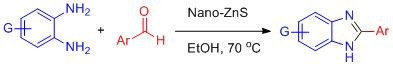 A facile synthesis of benzimidazole derivatives over zinc sulfide nanoparticles as heterogeneous catalyst