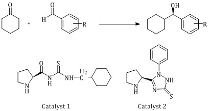 Highly asymmetric aldol reaction of cyclohexanone and aromatic aldehydes catalyzed by bifunctional cyclohexane derived thiourea organocatalyst