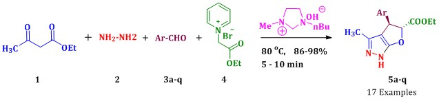 Facile ionic liquid-mediated, multi component synthesis of dihydro-1H-furo[2,3-c]pyrazoles